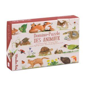 Dominó-puzzle de los animales El Jardín Moulin Roty