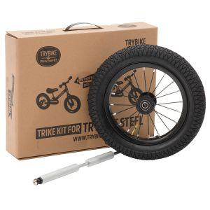 Kit Triciclo para bicicleta Trybike blanca / gris