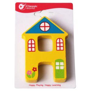 Letra de madera infantil H Classic World