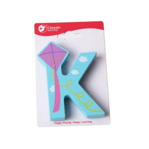 Letra de madera infantil K Classic World