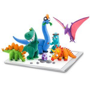 Plastilina interactiva Dinosaurios Hey Clay